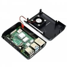 <b>Black ABS Case</b> for Raspberry Pi 4 with Cooling Fan