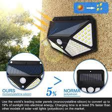 <b>100 LED Solar Lamp</b> Energy Saving Waterproof PIR Motion Sensor ...