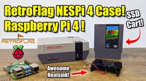 New <b>RetroFlag NesPi 4</b> Case! Raspberry Pi 4 Case Review with ...