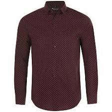 <b>Рубашка мужская BECKER MEN</b>, бордовая с белым, размер M ...