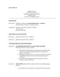 a sample resume for teachers  seangarrette coa sample