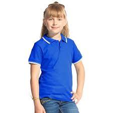<b>Детская рубашка поло</b> с контрастной окантовкой воротника и ...