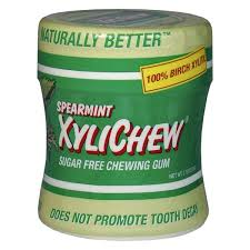 XYLICHEW - Xylitol Gum <b>Spearmint</b> Jar - <b>60 Pieces</b> (<b>2.75</b> oz./78 g ...