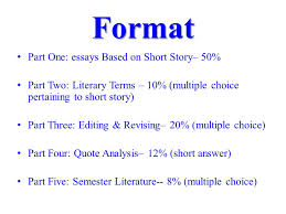 mid term exam review format part one essays based on short story  format part one essays based on short story  part two literary