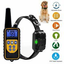 <b>800m Pet Dog Training</b> Collar Rechargeable Electric Shock LCD ...