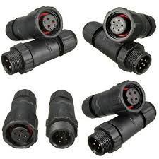 3/4/5/6PINS <b>ASSEMBLED IP68 Waterproof</b> Soldering Connector ...