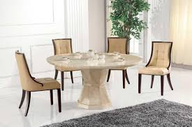 Marble Dining Room Sets Faux Marble Dining Table With Brown Espresso Leather Material