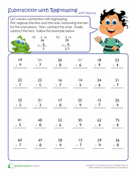 3rd Grade Subtraction Worksheets & Free Printables | Education.com3rd Grade. Math · Worksheet. Review Subtraction with Regrouping
