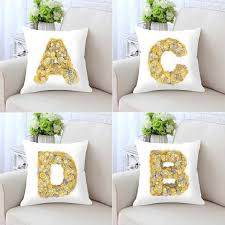 Customized <b>26 English Alphabet</b> Letters Pillow Diy Kids Name ...