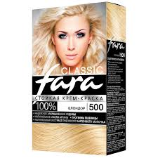 Крем-<b>краска для волос Fara</b> 500 блондор | Магнит Косметик
