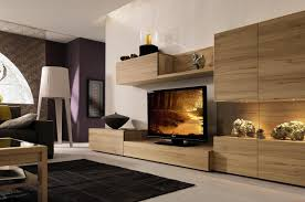 astounding living room design displaying brown smooth sanded maple tv cabinet built in wall units plus built furniture living room