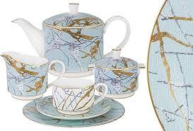 <b>Сервиз чайный</b> Anna Lafarg Emily <b>Марсель</b>, AL-M2262/<b>21</b>-E9, на ...