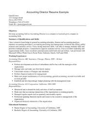 resume template  resume objective for first job resume summary    finance resume objective statements for accounting director resume example   working experiences