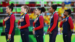 Image result for gabby douglas hand heart anthem