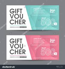 gift voucher template colorful patterncute gift stock vector gift voucher template colorful pattern cute gift voucher certificate coupon design template collection