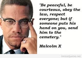 Peaceful-quote-Malcolm-X.jpg via Relatably.com