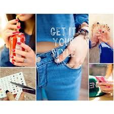 HO069 Korean <b>Nail</b> Art Sticker Manicure <b>Nail</b> Tattoo   Shopee ...
