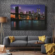 LED Lighted -The Brooklyn Bridge-Light Canvas Print Pictures Light ...