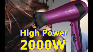 High power!!! Flyco FH6618 <b>2000W</b> Household <b>Hair Dryer</b> - Purple ...