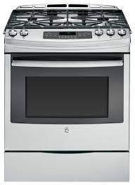 Gas Stainless Steel Cooktop Ge 56 Cu Ft Self Cleaning Slide In Gas Convection Range Silver