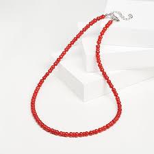 Купить <b>Бусы коралл красный</b> Индонезия (<b>биж</b>. сплав) 46 см (+7 ...