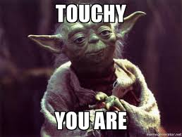 Touchy You are - Yoda | Meme Generator via Relatably.com