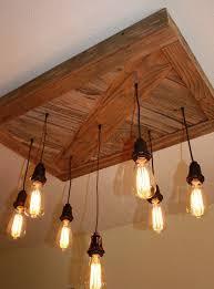 reclaimed wood chandelier vintage edison bulbs chandelier barn board