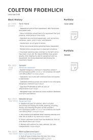 Farm Hand Resume Samples   VisualCV Resume Samples Database Farm Hand Resume Samples