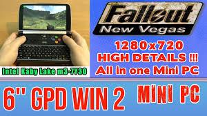 GPD WIN 2 Fallout <b>New Vegas</b> on Handheld <b>Mini PC</b> - 256 GB SSD ...