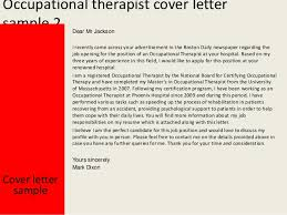 occupational therapist occupational therapy cover letter