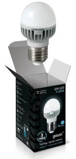 Купить <b>Лампа Gauss LED Globe</b> 6W E27 4100K 1/10/100 в Москве ...