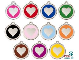 Stainless Steel <b>Heart Pet</b> ID Tags - FREE Shipping