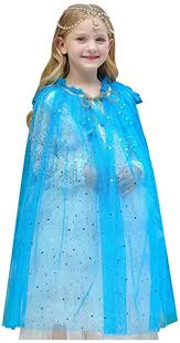 Rizoo Girls Princess <b>Cape Costume</b> Kids <b>Cloak Halloween Party</b> ...