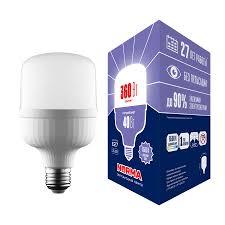 <b>Лампа LED</b> сверхмощная <b>Volpe E27 40W 6500K</b> матовая <b>LED</b> ...