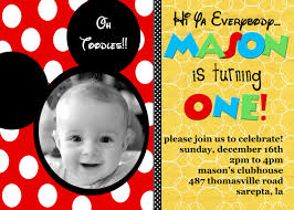 mickey mouse clubhouse birthday invitations card invitation mickey mouse birthday invitations card