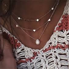 Shop <b>Bohemian</b> Multilayer Star Moon Pendant <b>Necklace</b> For ...