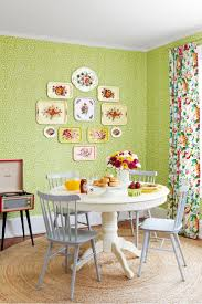inspired breakfast dining table antique thanks to cheery vintage finds and an unabashedly feminine fabric this