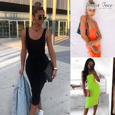 Buy <b>2019 Summer New</b> Fashion Basic Vest long Dress Women ...