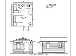 Historic Shed Cottages  Tiny Houses   Historic ShedCottage Floor Plans