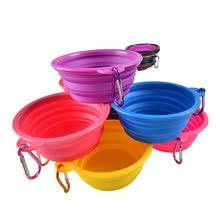 Силиконовая <b>складная миска для</b> кормления собачья водная ...
