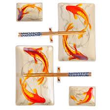 """<b>Набор для суши 8</b> пр., керамика, """"Императорские рыбки"""" (839 ..."""