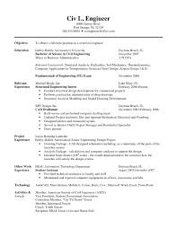 chemical engineering internship resume objective