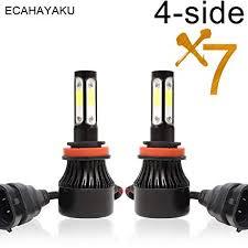 ECAHAYAKU 2Pcs car led headlight 4-side H7 H4 ... - Amazon.com