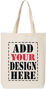 DESIGN YOUR OWN <b>Canvas Tote Bag</b> - Add your <b>Picture Photo</b>