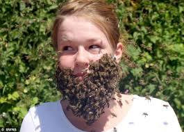 Gadis Cantik Relakan Wajahnya Jadi Sarang Lebah Untuk Panti Asuhan - lebah1