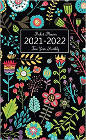2021-2022 <b>Two</b> Year Monthly Pocket Planner: <b>Colorful Flower</b> Cover