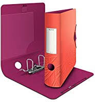 Leitz <b>180</b>° Active Urban <b>Chic</b> Lever Arch File, Red, A4, Curved Spine