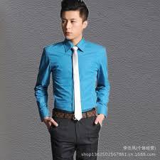 com buy new long sleeved shirt slim korean men s com buy 2014 new long sleeved shirt slim korean men s business casual shirt shirt fashion fresh groom bar men casual shirt summer dress from