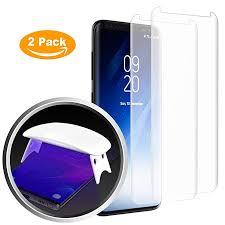 Heroshield Galaxy S8 <b>Matte Tempered Glass</b> Screen Protector, [<b>Full</b> ...