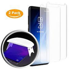 Heroshield Galaxy S8 <b>Matte Tempered Glass</b> Screen Protector, [<b>Full</b> ...